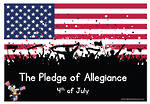 The Pledge of Allegiance | 4th of July | Cards