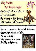 Guy Fawkes  | Short Rhyme | Chart