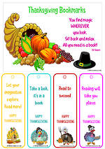 Thanksgiving | Reading | Bookmarks