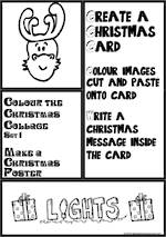 Christmas | Colouring | Collage | Poster | Card Making | Writing Prompt | Set 1