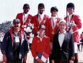 Coach of the Gold Medal Singapore Eventing Team in Chaing Mai 1995