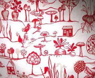 Prestigious textiles Allotment poppy