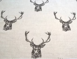 stag pattern linen