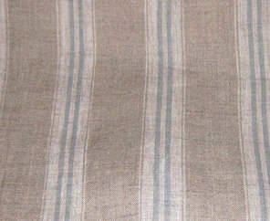 Duck egg striped linen