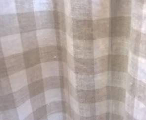 soft linen check