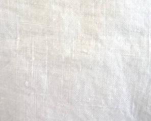 heavy white crumpled linen