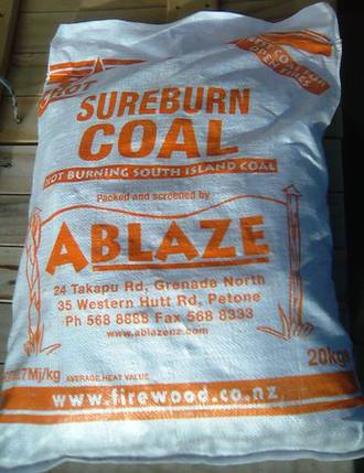 Sureburn Coal 20kg bag - (Click and Collect)