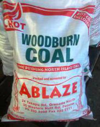 Woodburn Coal 20kg bags - minimum order 10 bags