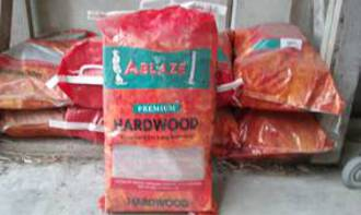 Hardwood bags delivered- minimum order 10 bags