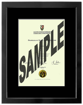 Stylish Degree Frame with a smart mat border