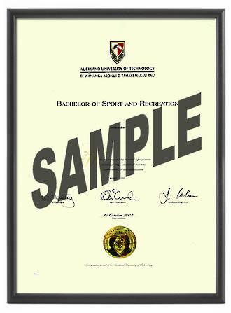 Simple Black Degree frame