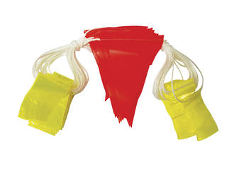 30 metre safety bunting, reflective