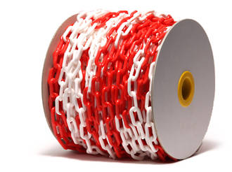 Plastic Safety Chain, Red/White