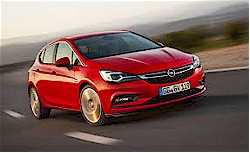 The new Astra (front view)