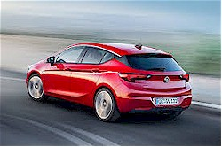 The new Astra (back view)