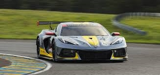 A Corvette on the track