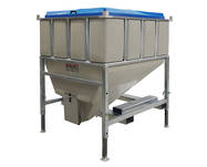 Food Grade Hopper Bin - Side Discharge