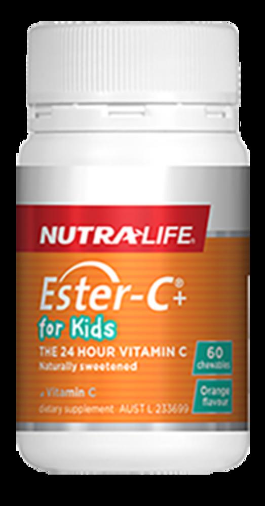 Ester-C+ for Kids 120 Chewable Tablets