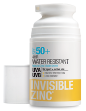 INVISIBLE ZINC 4 Hour Water Resistant Sunscreen SPF50