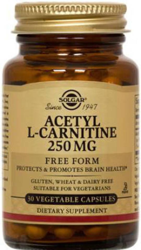 Solgar Acetyl L Carnitine 250mg 30 Vegicaps
