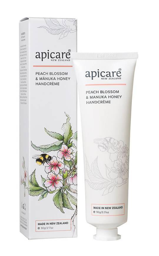 Apicare Peach Blossom & Manuka Honey Handcreme 90g