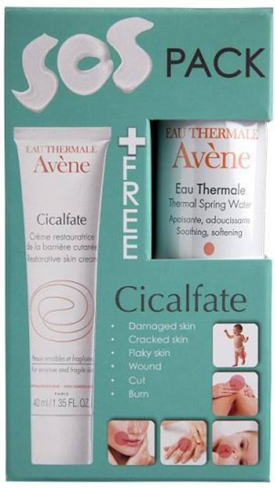 Avene Cicalfate Restorative Skin Cream With One Avene Thermal Spring Water Spray