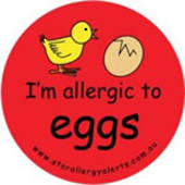 I'm Allergic to Eggs Sticker Pack - Red