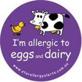 I'm Allergic to Eggs and Dairy Badge Pack