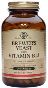 Solgar Brewers Yeast with Vitamin B12 Tablets