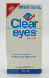 Clear Eyes Redness Eye Drops 15ml