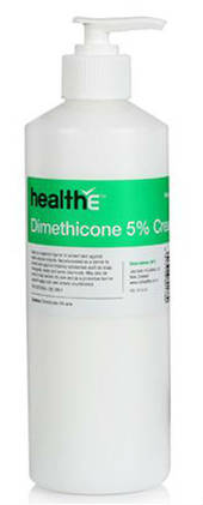 healthE Dimethicone 5% Cream 500g Pump Bottle