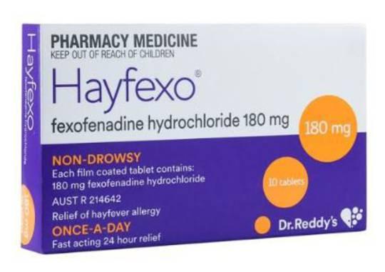 Hayfexo 180mg Tablets (Fexofenadine)