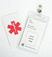 Photo/Medical ID Tag for Auto Injector Pouch