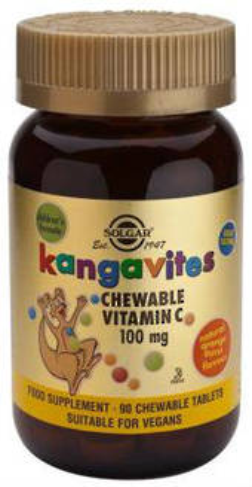 Solgar Kangavites Chewable Vitamin C 90