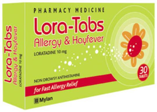 Lora-Tabs 10mg Tablets (Loratadine)