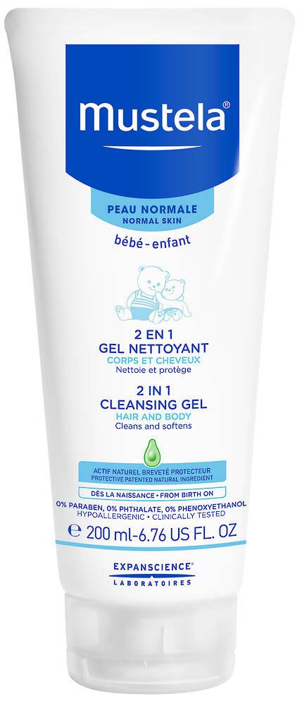 Mustela 2 in 1 Hair and Body Cleansing Gel 200ml