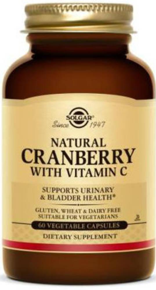 Solgar Natural Cranberry with Vitamin C 60 Vegicaps
