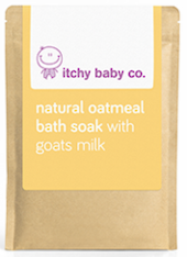 Itchy Baby Co. Natural Oatmeal Bath Soak with Goats Milk 200g