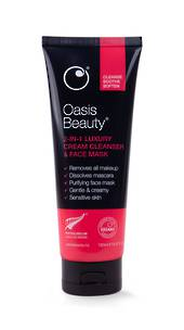 Oasis Beauty 2-in-1 Luxury Cream Cleanser & Face Mask 150mL