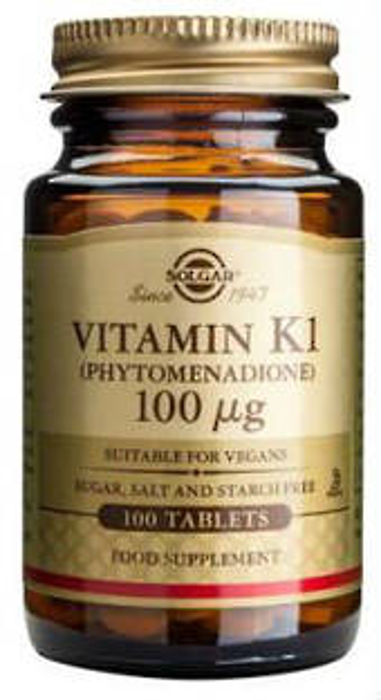 Solgar Vitamin K1 100mcg 100
