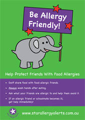 Be Allergy Friendly! Poster