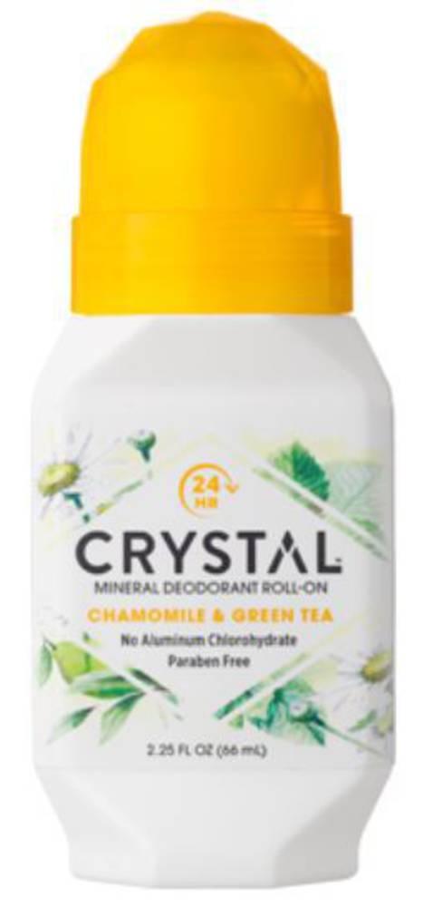 Crystal Chamomile & Green Tea Mineral Deodorant Roll-on