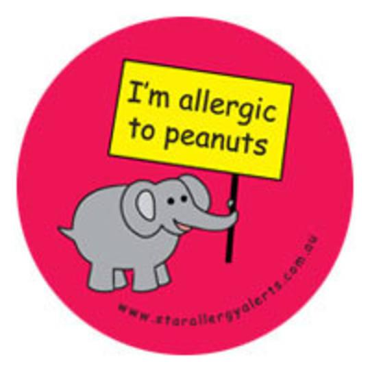 I'm Allergic to Peanuts Badge Pack