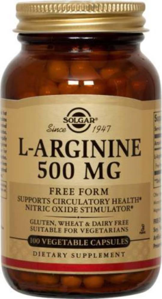 Solgar L-Arginine 500mg 50 Vegicaps