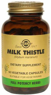 Solgar Milk Thistle 100mg 50 Vegicaps