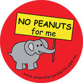 NO PEANUTS for me Badge Pack
