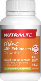 Nutra-Life Ester-C with Echinacea 60 chewable tablets