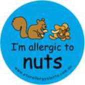 I'm Allergic to Nuts Badge Pack (squirrel) Blue or Pink