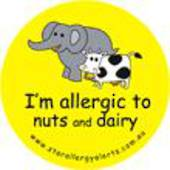I'm Allergic to Nuts and Dairy Badge Pack