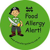 Food Allergy Alert Pirate Badge Pack